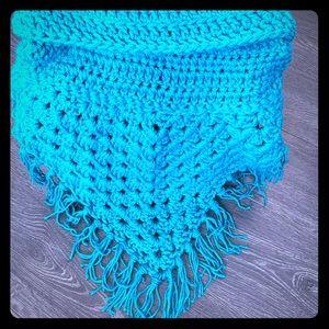 Blue Hand Made Crochet cowl